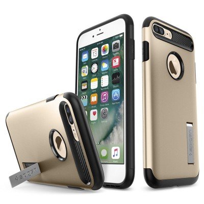 "Apple iPhone 7 Plus 5.5"" Θήκη Spigen Case Slim Armor Champagne Gold 043CS20310"