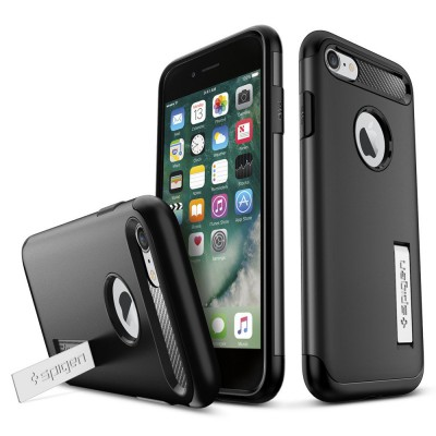 "Apple iphone 7 4,7"" Θήκη Spigen Case Slim Armor black 042CS20647"