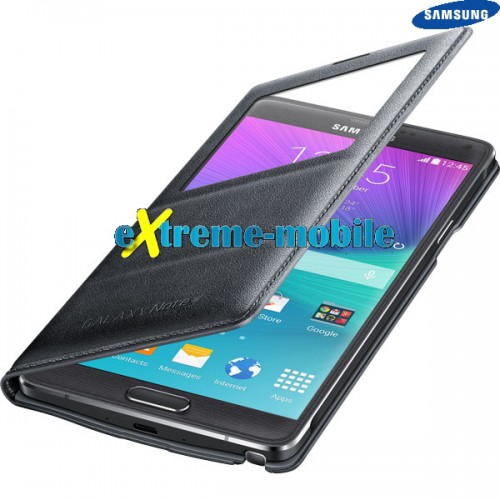 new products 6bbb7 7490f Samsung Galaxy Note 4 (N910) Original S-View Flip Cover Case
