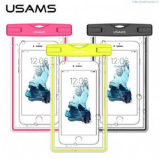 USAMS Luminous Waterproof Case Black for Smartphone 6""